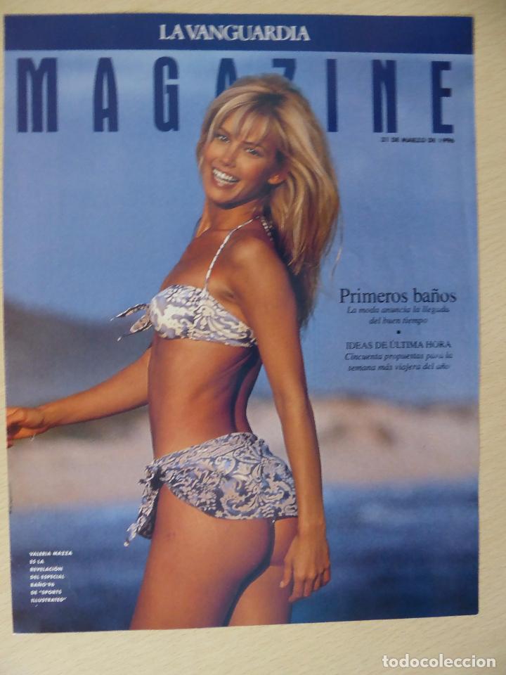RECORTE LA VANGUARDIA MAGAZINE (31-03-1996): PORTADA VALERIA MAZZA (Coleccionismo - Revistas y Periódicos Modernos (a partir de 1.940) - Periódico La Vanguardia)