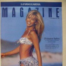 Coleccionismo Periódico La Vanguardia: RECORTE LA VANGUARDIA MAGAZINE (31-03-1996): PORTADA VALERIA MAZZA. Lote 191431776
