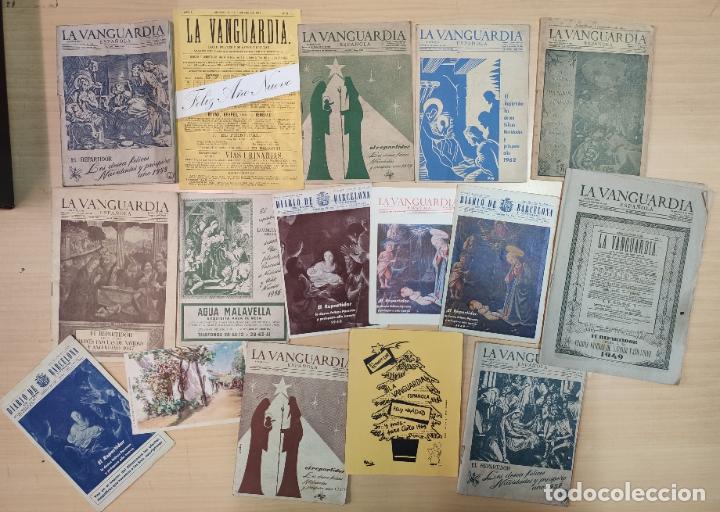 17 FELICITACIONES DE NAVIDAD, LA VANGUARDA A PARTIR DE 1940 (Coleccionismo - Revistas y Periódicos Modernos (a partir de 1.940) - Periódico La Vanguardia)