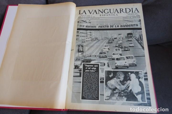 Coleccionismo Periódico La Vanguardia: MUERTE DE FRANCO Y PROCLAMACION DE JUAN CARLOS I - ENCUADERNADO LA VANGUARDIA - Foto 3 - 194632652