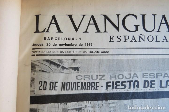 Coleccionismo Periódico La Vanguardia: MUERTE DE FRANCO Y PROCLAMACION DE JUAN CARLOS I - ENCUADERNADO LA VANGUARDIA - Foto 4 - 194632652