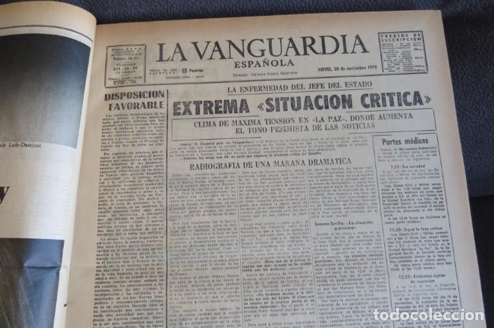 Coleccionismo Periódico La Vanguardia: MUERTE DE FRANCO Y PROCLAMACION DE JUAN CARLOS I - ENCUADERNADO LA VANGUARDIA - Foto 5 - 194632652