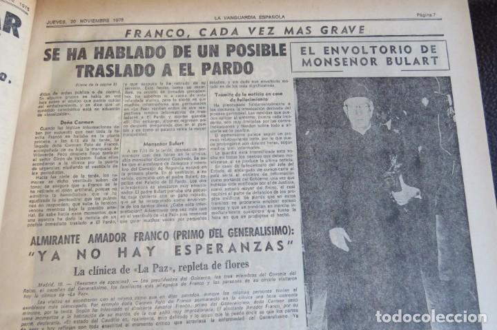 Coleccionismo Periódico La Vanguardia: MUERTE DE FRANCO Y PROCLAMACION DE JUAN CARLOS I - ENCUADERNADO LA VANGUARDIA - Foto 6 - 194632652