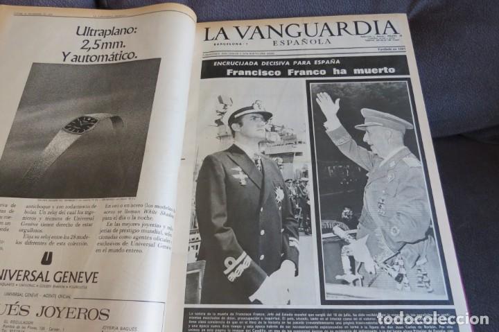 Coleccionismo Periódico La Vanguardia: MUERTE DE FRANCO Y PROCLAMACION DE JUAN CARLOS I - ENCUADERNADO LA VANGUARDIA - Foto 7 - 194632652