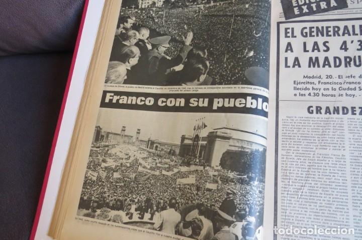 Coleccionismo Periódico La Vanguardia: MUERTE DE FRANCO Y PROCLAMACION DE JUAN CARLOS I - ENCUADERNADO LA VANGUARDIA - Foto 9 - 194632652