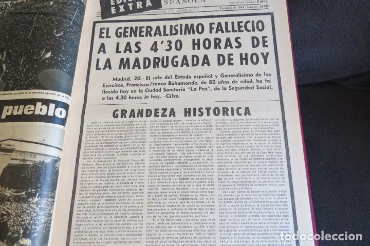 Coleccionismo Periódico La Vanguardia: MUERTE DE FRANCO Y PROCLAMACION DE JUAN CARLOS I - ENCUADERNADO LA VANGUARDIA - Foto 10 - 194632652