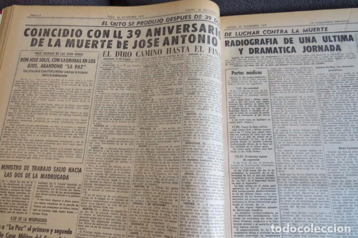 Coleccionismo Periódico La Vanguardia: MUERTE DE FRANCO Y PROCLAMACION DE JUAN CARLOS I - ENCUADERNADO LA VANGUARDIA - Foto 12 - 194632652