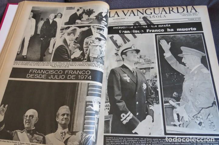 Coleccionismo Periódico La Vanguardia: MUERTE DE FRANCO Y PROCLAMACION DE JUAN CARLOS I - ENCUADERNADO LA VANGUARDIA - Foto 15 - 194632652