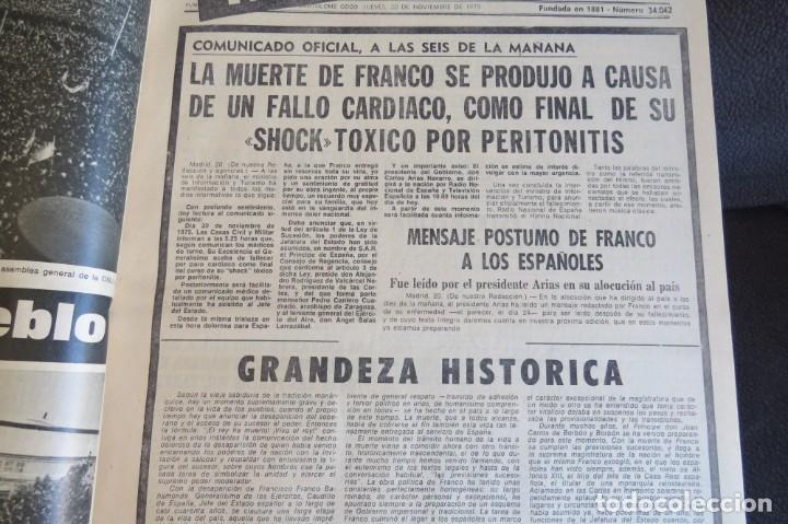 Coleccionismo Periódico La Vanguardia: MUERTE DE FRANCO Y PROCLAMACION DE JUAN CARLOS I - ENCUADERNADO LA VANGUARDIA - Foto 18 - 194632652