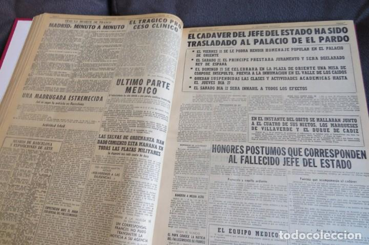 Coleccionismo Periódico La Vanguardia: MUERTE DE FRANCO Y PROCLAMACION DE JUAN CARLOS I - ENCUADERNADO LA VANGUARDIA - Foto 19 - 194632652