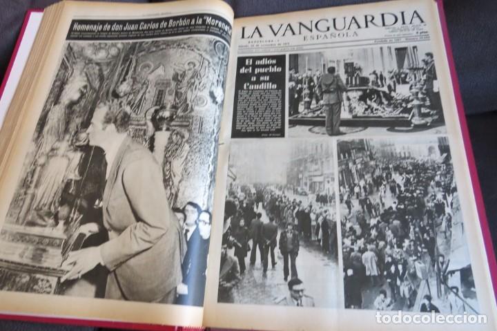 Coleccionismo Periódico La Vanguardia: MUERTE DE FRANCO Y PROCLAMACION DE JUAN CARLOS I - ENCUADERNADO LA VANGUARDIA - Foto 23 - 194632652