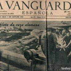 Coleccionismo Periódico La Vanguardia: LA VANGUARDIA SEGUNDA GUERRA MUNDIAL 40 DIARIOS COMPLETOS AÑO 1940. Lote 198086960