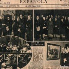 Coleccionismo Periódico La Vanguardia: LA VANGUARDIA 6 DIARIOS COMPLETOS AÑO 1942 CON INFORMACIÓN GRÁFICA. Lote 198088375