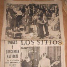 Collectionnisme Journal La Vanguardia: LOS SITIOS DE GERONA 23 NOVIEMBRE 1975 UNIDAD Y CONCORDIA NACIONAL / PROCLAMACION DEL REY DE ESPAÑA. Lote 202683036