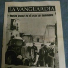 Collectionnisme Journal La Vanguardia: LA VANGUARDIA 7 ABRIL 1937, EJERCITO POPULAR,AVANCE SECTOR GUADALAJARA,RECUERDO BUJARALOZ A DURRUTI. Lote 202722325