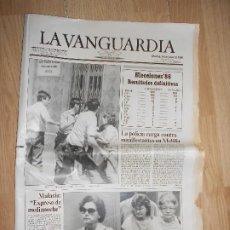 Colecionismo Jornal La Vanguardia: LA VANGUARDIA Nº 37.538 24 JUNIO 1986 - ELECCIONES 86 RESULTADOS DEFINITIVOS. Lote 202793441