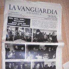 Colecionismo Jornal La Vanguardia: LA VANGUARDIA Nº 34.527 15 JUNIO 1977 - 1931/33/36 ELECCIONES ESTOS ERAN LOS POLITICOS DE ENTONCES. Lote 202794230