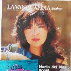 Coleccionismo Periódico La Vanguardia: REVISTA LA VANGUARDIA DOMINGO 7 DE MAYO DE 1989 MARIA DEL MAR BONET ATHINA ONASSIS MARLON BRANDO. Lote 202985298