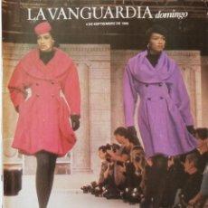 Coleccionismo Periódico La Vanguardia: REVISTA LA VANGUARDIA DOMINGO 4 DE SEPTIEMBRE DE 1988 MODA PARÍS OLIMPIADAS MUNICH 72. Lote 202986068