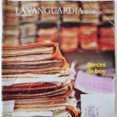 Coleccionismo Periódico La Vanguardia: REVISTA LA VANGUARDIA DOMINGO 9 DE JUNIO DE 1985 MARIA ANTONIETTA MACCIOCCHI. Lote 202988351