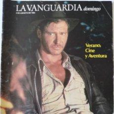 Colecionismo Jornal La Vanguardia: REVISTA LA VANGUARDIA DOMINGO 5 DE AGOSTO DE 1984 HARRISON FORD JAUME SISA MIGUEL BOSÉ SEX PISTOLS. Lote 202989705