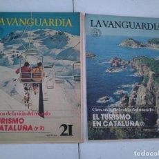 Coleccionismo Periódico La Vanguardia: LA VANGUARDIA , CIEN AÑOS DE LA VIDA EN EL MUNDO - EL TURISMO EN CATALUÑA, 2 FASCICULOS, COMPLETO.. Lote 204975240