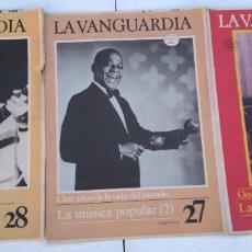 Coleccionismo Periódico La Vanguardia: LA VANGUARDIA , CIEN AÑOS DE LA VIDA EN EL MUNDO - LA MÚSICA POPULAR, 3 FASCICULOS, COMPLETO. Lote 204975475