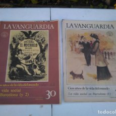 Coleccionismo Periódico La Vanguardia: LA VANGUARDIA , LA VIDA SOCIAL EN BARCELONA, 2 FASCICULOS, COMPLETO. Lote 204975552