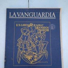 Coleccionismo Periódico La Vanguardia: LA VANGUARDIA , CIEN AÑOS DE LA VIDA EN EL MUNDO - LA MÚSICA CATALANA. Lote 204975837