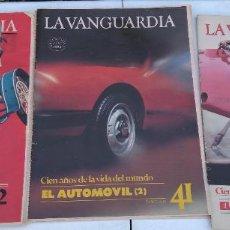Coleccionismo Periódico La Vanguardia: LA VANGUARDIA , CIEN AÑOS DE LA VIDA EN EL MUNDO - EL AUTOMÓVIL, 3 FASCICULOS, COMPLETO. Lote 204975942