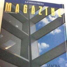 Coleccionismo Periódico La Vanguardia: MAGAZINE - MACBA - NOV. 1995. Lote 205085822