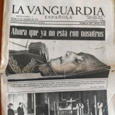 Coleccionismo Periódico La Vanguardia: VANGUARDIA 1975 MUERTE DE FRANCO. Lote 205144963