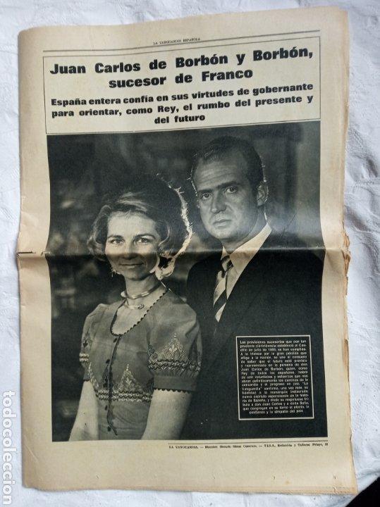 PERIÓDICO MUERTE FRANCO TRANSICIÓN.GUERRA CIVIL.MILITAR.FALANGE.EJERCITO.GENERALISIMO. (Coleccionismo - Revistas y Periódicos Modernos (a partir de 1.940) - Periódico La Vanguardia)