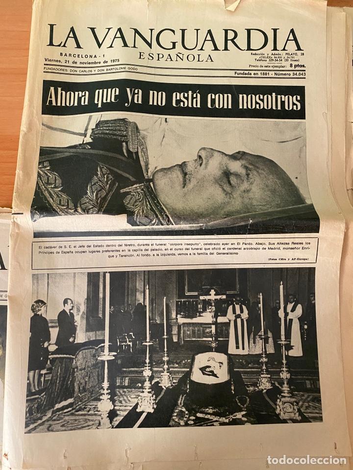Coleccionismo Periódico La Vanguardia: 4 Periódicos de la Transición 1975 (Muerte Franco - Proclamación Rey Juan Carlos) - Foto 2 - 213681665