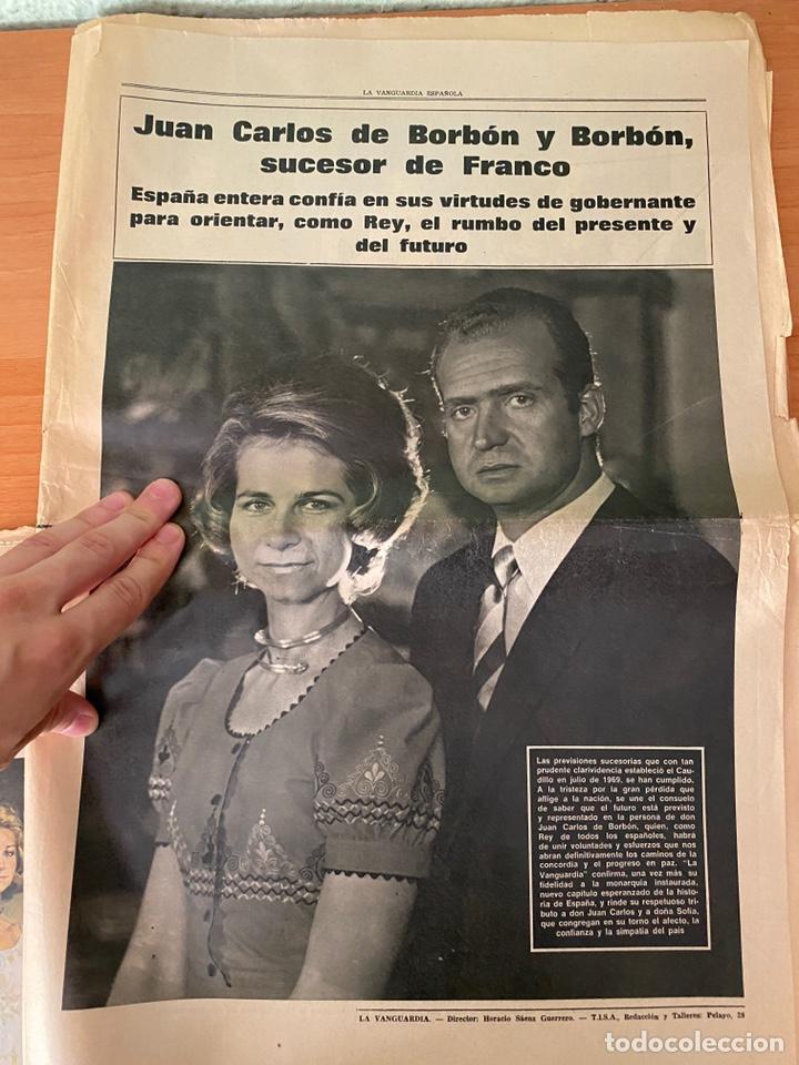 Coleccionismo Periódico La Vanguardia: 4 Periódicos de la Transición 1975 (Muerte Franco - Proclamación Rey Juan Carlos) - Foto 3 - 213681665