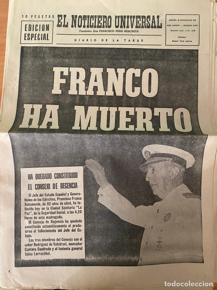 Coleccionismo Periódico La Vanguardia: 4 Periódicos de la Transición 1975 (Muerte Franco - Proclamación Rey Juan Carlos) - Foto 4 - 213681665