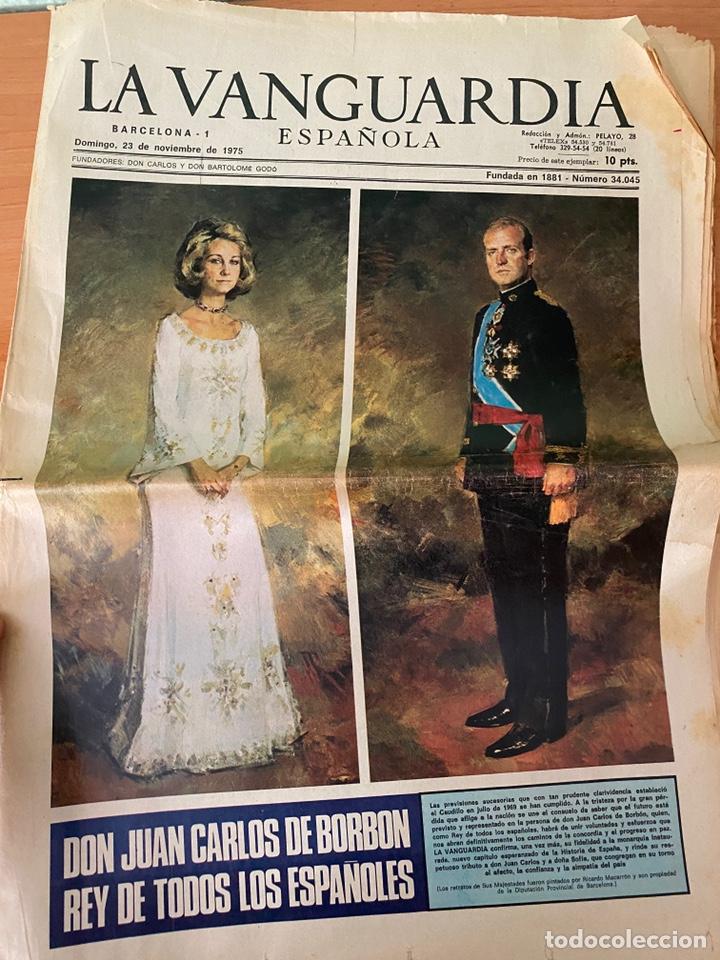 Coleccionismo Periódico La Vanguardia: 4 Periódicos de la Transición 1975 (Muerte Franco - Proclamación Rey Juan Carlos) - Foto 5 - 213681665