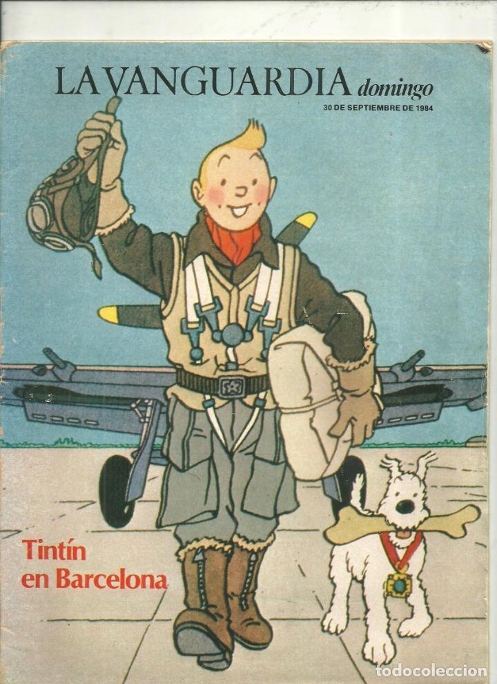 3905.- TINTIN EN BARCELONA - SUPLEMENTO DE LA VANGUARDIA 30 SEPTIEMBRE DE 1984 (Coleccionismo - Revistas y Periódicos Modernos (a partir de 1.940) - Periódico La Vanguardia)