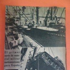 Coleccionismo Periódico La Vanguardia: LOTE RECORTES LA VANGUARDIA, 1954, FRANCO, ALFONSO XIII, VER FOTOS. Lote 215537426