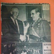 Coleccionismo Periódico La Vanguardia: LOTE RECORTES LA VANGUARDIA, 1954, FRANCO, VER FOTOS. Lote 215537596