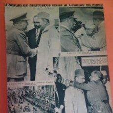 Coleccionismo Periódico La Vanguardia: LOTE RECORTES LA VANGUARDIA, 1955, FRANCO, MARRUECOS, , VER FOTOS. Lote 215538091