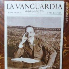 Coleccionismo Periódico La Vanguardia: LA VANGUARDIA. PORTADAS HISTÓRICAS. 1928/1936. NOTAS GRÁFICAS BARCELONA.52 LÁMINA. Lote 217137535