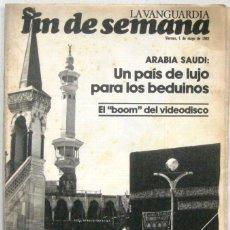 Coleccionismo Periódico La Vanguardia: FIN DE SEMANA - 1 MAYO 1981 - LA VANGUARDIA - REVISTA. Lote 217211923