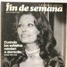 Coleccionismo Periódico La Vanguardia: FIN DE SEMANA - 8 MAYO 1981 - LA VANGUARDIA - REVISTA. Lote 217212262