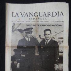 Coleccionismo Periódico La Vanguardia: LA VANGUARDIA NOTAS GRÁFICAS 4 PÁGINAS - BARCELONA, SARRIÀ DE TER, TORDERA, SALT, CASTELLÓN A. 1939. Lote 217255295