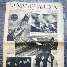 Coleccionismo Periódico La Vanguardia: LA VANGUARDIA ESPAÑOLA- 2°GUERRA MUNDIAL, 12 ABRIL 1944.. Lote 218512667