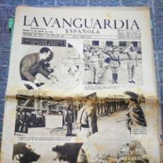 Coleccionismo Periódico La Vanguardia: LA VANGUARDIA ESPAÑOLA- 2°GUERRA MUNDIAL, 12 AGOSTO 1944.. Lote 218514975