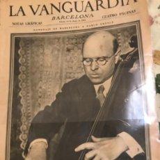 Coleccionismo Periódico La Vanguardia: PAU CASALS LA VANGUARDIA. Lote 221419271