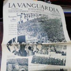 Coleccionismo Periódico La Vanguardia: LA VANGUARDIA SOLO 4 CARAS AÑO 42. Lote 231362220