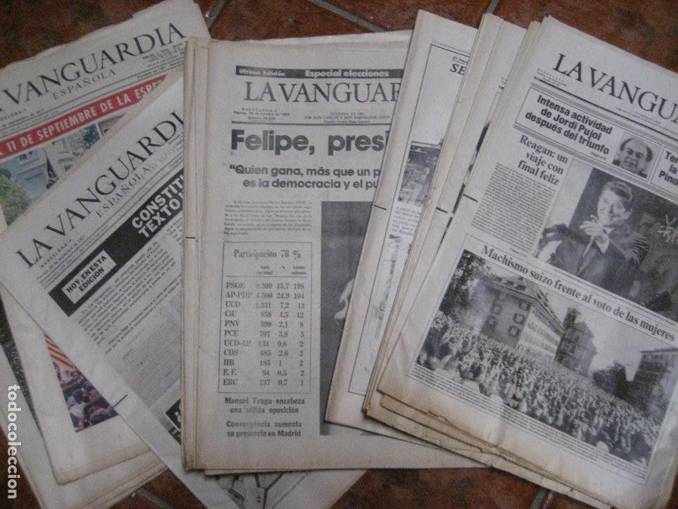 LOTE 14 PERIODICOS TRANSICION LA VANGUARDIA 23 F GOLPE ESTADO . RETORNO TARRADELLES FELIPE GONZALEZ (Coleccionismo - Revistas y Periódicos Modernos (a partir de 1.940) - Periódico La Vanguardia)